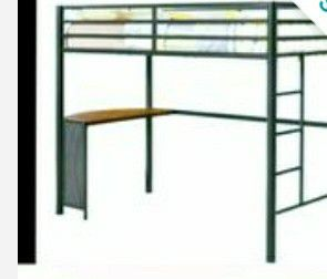 Twin bunk bed with desk for Sale in St. Louis, MO