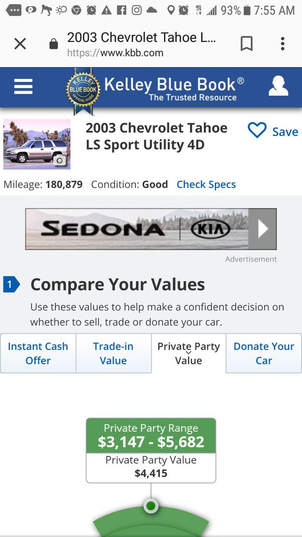 03 Chevy tahoe in good condition