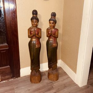 Antique Japanese Solid Wood Dolls for Sale in Fort Worth, TX