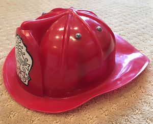 Red firefighter fire chief plastic helmet child size for Sale in Marysville, WA