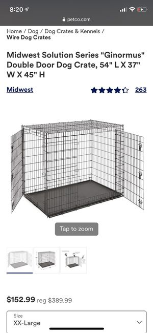 Extra large dog crate for Sale in Milton, MA