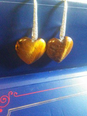 Tiger's Eye Heart Drop Earrings for Sale in Phoenix, AZ