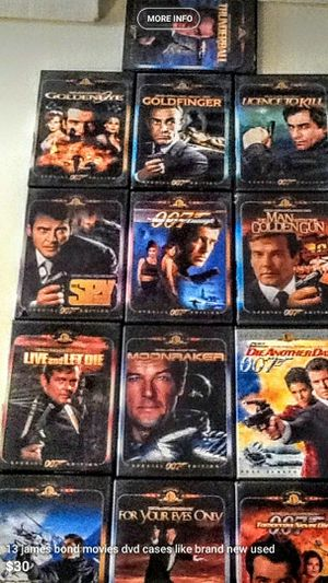 DVD 13 James Bond DVDs watched one time brand new for Sale in Pembroke Pines, FL