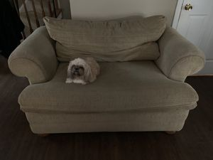 LazyBoy Loveseat/TwinPullout beige , has a matching ottoman but can be sold separately. for Sale in Charles Town, WV