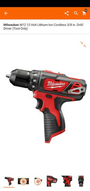 Milwaukee M12 12-Volt Lithium-Ion Cordless 3/8 in. Drill/Driver (Tool-Only for Sale in Dumfries, VA