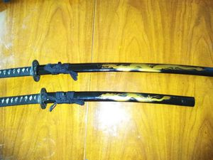 Decorative Unsharpened Katana and matching wakizashi for Sale, used for sale  Clarksville, TN