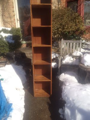 Beautiful Solid wood, tall, narrow shelf for Sale in Virginia Beach, VA
