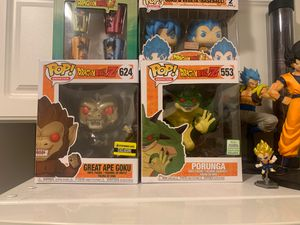 Dragonball funko pop lot and cups for Sale in Bloomington, IL