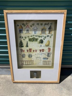 Large Lawrence ulimited collection tuscan garden shadow box art piece for Sale in Buena Park, CA