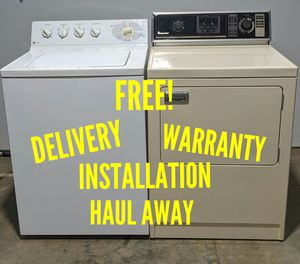 FREE DELIVERY/INSTALLATION/WARRANTY/HAUL AWAY - GE Washer & Magic Chef Dryer for Sale in Hilliard, OH