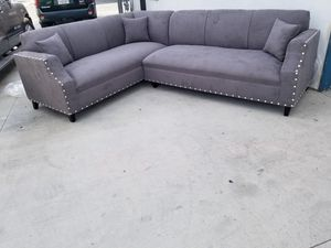 NEW 7X9FT CHARCOAL MICROFIBER SECTIONAL COUCHES for Sale in Gardena, CA