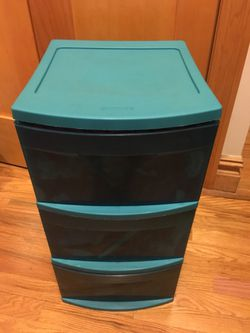 Teal 3-drawer Plastic Storage! for Sale in New York,  NY