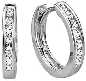 AGS Certified Diamond Huggie Hoop Earrings for Sale in Austin, TX