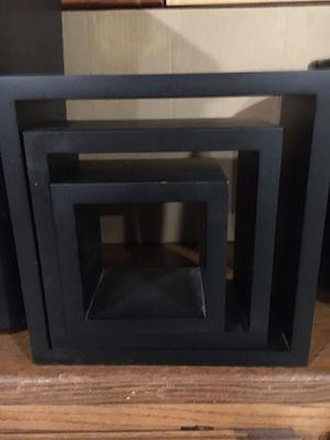 Black frame box shelves for Sale in Port Costa, CA