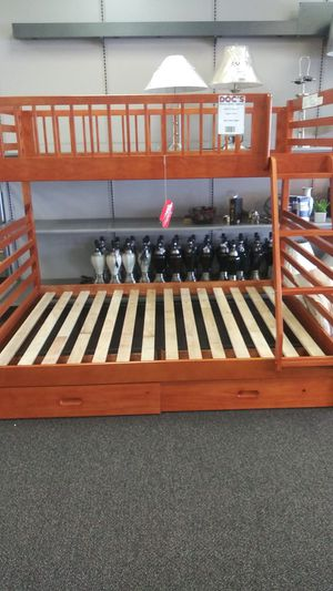 New ashford wood twin/full bunk bed for Sale in West Columbia, SC