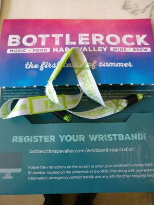 Pair of Bottle Rock tickets!! Sold out date for Sale in San Francisco, CA