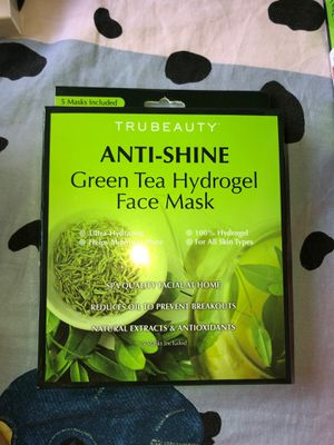 TRUBEAUTY ANTI-SHINE GREEN TEA HYDROGEL FACE MASK for Sale in Brooklyn, NY