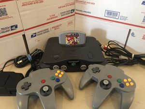 Nintendo 64, N64 System / Console Bundle + Cables + 2 Controllers+ Mario Party for Sale in Lowellville, OH