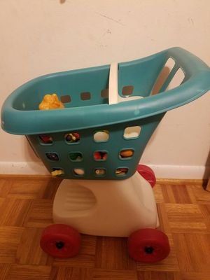 Kids shopping cart with toy fruit for Sale in Niceville, FL