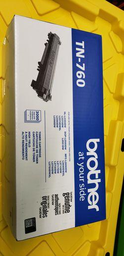 Brother Genuine Cartridge TN760 High Yield Black Toner for Sale in Elizabeth,  NJ