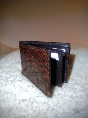 Today only $40 New 100% authentic Brown rare Fish skin Wallet for Sale in Glendora, CA