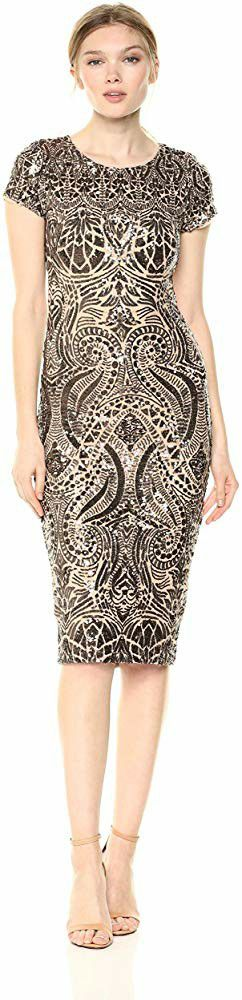 Betsy & Adam Women's Short Cap Sleeve Sequin Dress Size 6 for Sale in Riverside, CA