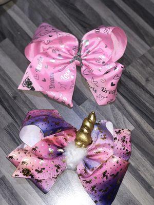 Girls Jojo Siwa unicorn Paris hair bows for Sale in Channahon, IL