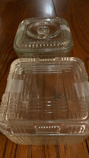 Antique glass covered storage dishes 1940s art deco for Sale in Duvall, WA