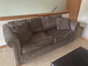 Couch Chair and Ottoman Set queen pull out bed! - Gray - pick up only for Sale in Snoqualmie Pass, WA