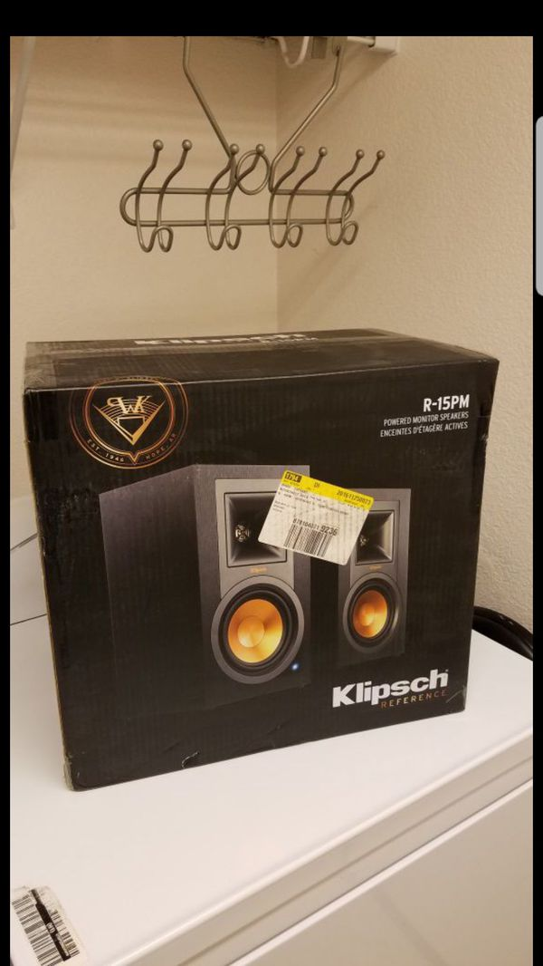 NEW Klipsch R15pm Powered Monitor Speakers Bluetooth Wireless Speakers... No need of amplifier powered