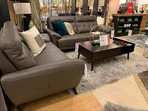 Brand new in the box                     Sissoko Gray Leather Living Room Set for Sale in Jessup, MD
