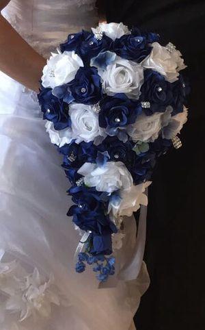 Wedding bouquet royal blue for Sale in Hialeah, FL