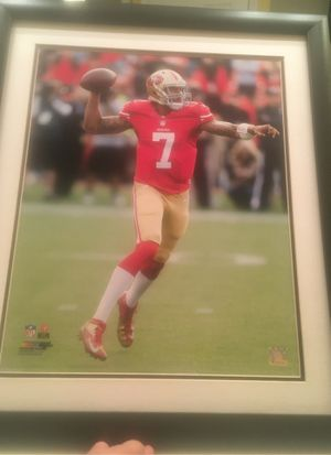 49er Kaepernick picture frame for Sale in Patterson, CA