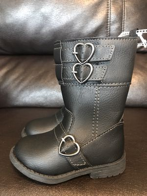 Brand new! Little girls, size 5, little black tall boots with inside zipper for Sale in Sacramento, CA