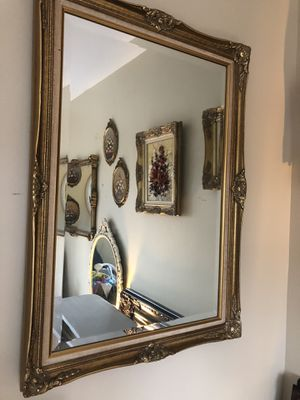 "Antique French gold leaf wood mirror ""41""X30"" (SERIOUS INQUIRIES PLEASE "" for Sale in Gainesville, VA"