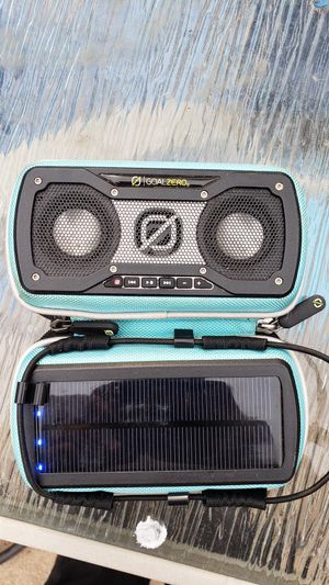 Goal zero rockout 2 solar bluetooth speaker for Sale in Taylor, MI