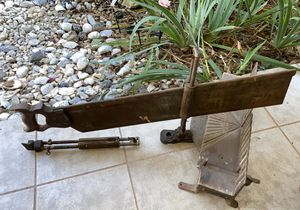 STANLEY Large Antique Collectible Metal Iron Saw With Wooden handle for Sale in Boiling Springs, SC