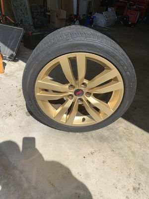 2013 STI rims 18 x 8.5 with good tires. Goodyear F1 a/s tires. Powder coated gold by WRS in Santa Ana. 800 obo for Sale in Orange, CA