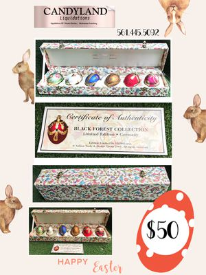 Black Forest Collection Blown Egg Ornaments in Collectors box for Sale in Lake Worth, FL