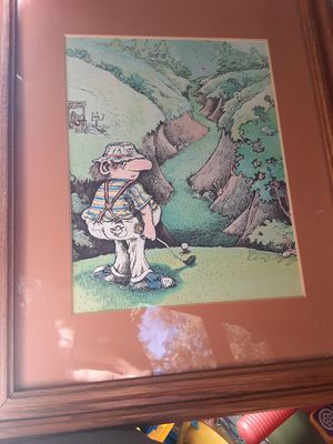 Golfing picture frame for Sale in Upland, CA