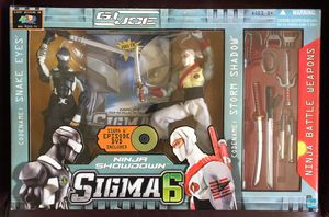 Collectible: GI Joe Sigma 6 Ninja Showdown Action Figure Set (2005) - COMPLETE / NEVER USED / HAS DAMAGED BOX. 👉See my other offers👈 for Sale in Stockton, CA