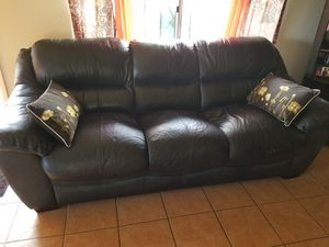 LEATHER SOFA FOR SALE - $200 OBO for Sale in San Diego, CA