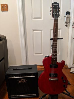 Epiphone electric guitar with Peavey amplifier for Sale in Palm Springs, FL