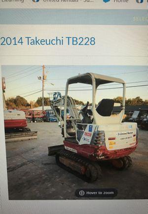 2014 Takeuchi TB228 Mini Excavator (Charlotte NC) for Sale in Charlotte, NC