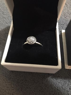 Pandora droplet sterling silver ring for Sale in Beaumont, TX