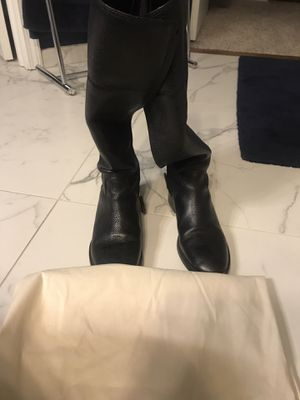Tory Burch black leather knee boots, size 8 for Sale in Strongsville, OH