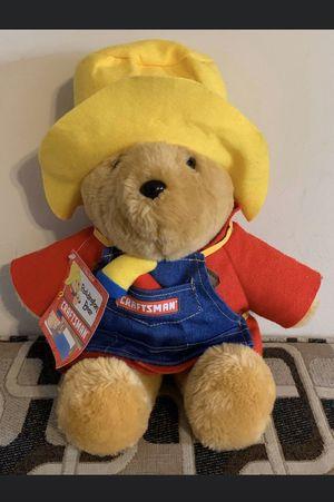 Vintage Sears Craftsman Paddington Bear Stuffed Plush Animal 1997 New With Tags for Sale in Boca Raton, FL