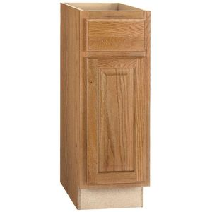 Hampton Bay Hampton Assembled 12x34.5x24 in. Base Kitchen Cabinet with Ball-Bearing Drawer Glides in Medium Oak for Sale in Bellaire, TX