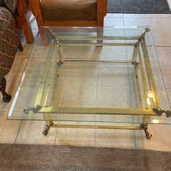 Glass Gold Metal Coffee Table for Sale in Livonia,  MI