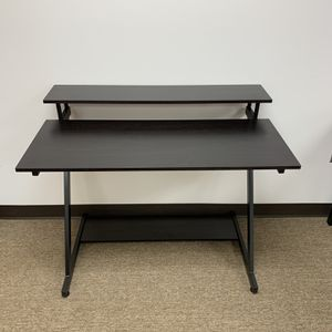 Sturdy Computer Desk With Monitor & Printer Shelf For Home & Office, Espresso. for Sale in Duluth, GA